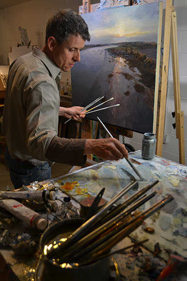 Ramsay Gibb in his studio