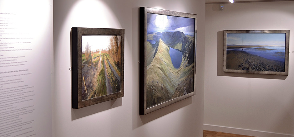 Ramsay Gibb's paintings being exhibited at Granary Gallery, in Berwick.