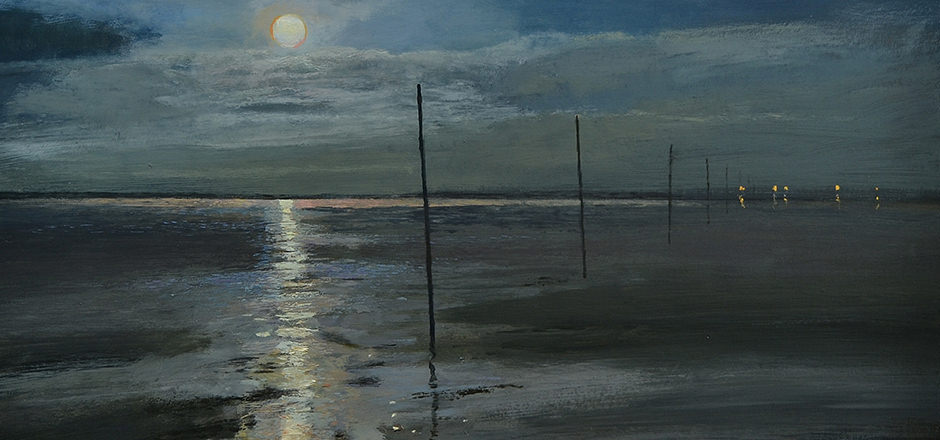 Fullmoon and Tide's turn A Night journey to Lindisfarne