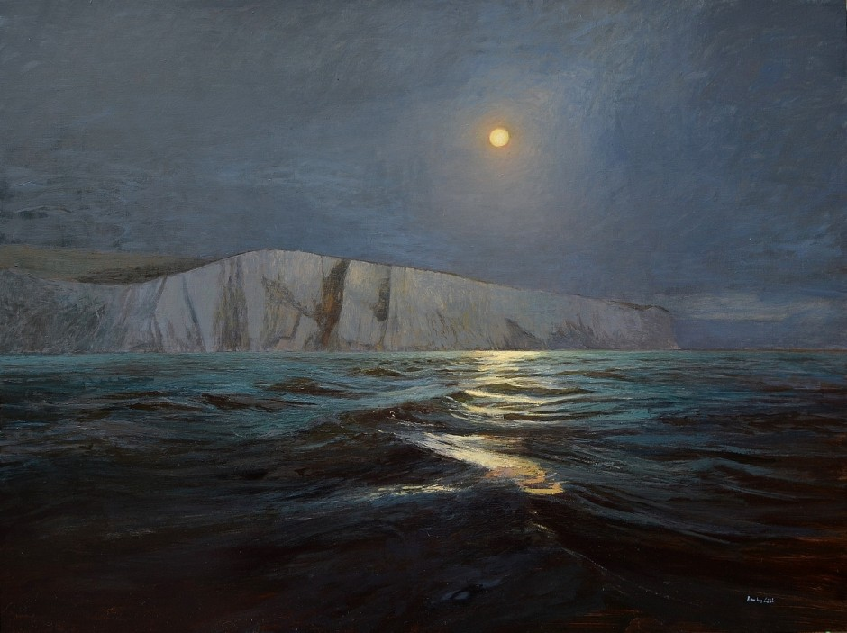 Moonrise, The White Cliffs