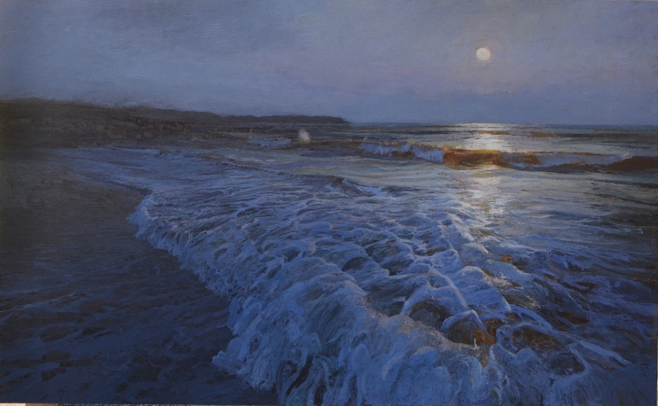 Full moon, rising tide. Islay