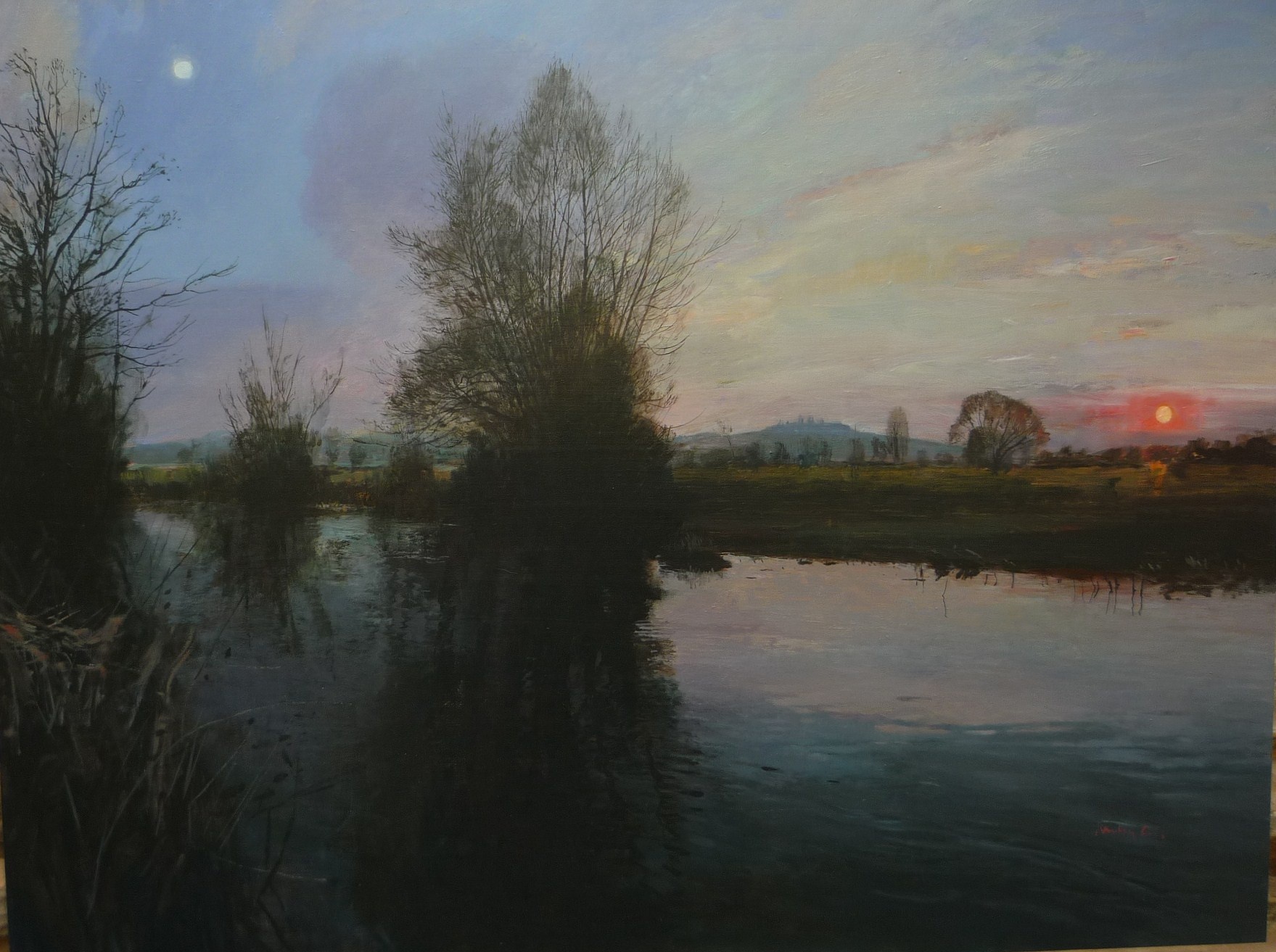 Landscape of the Vernal Equinox. Wittenham From the River Thame 2011