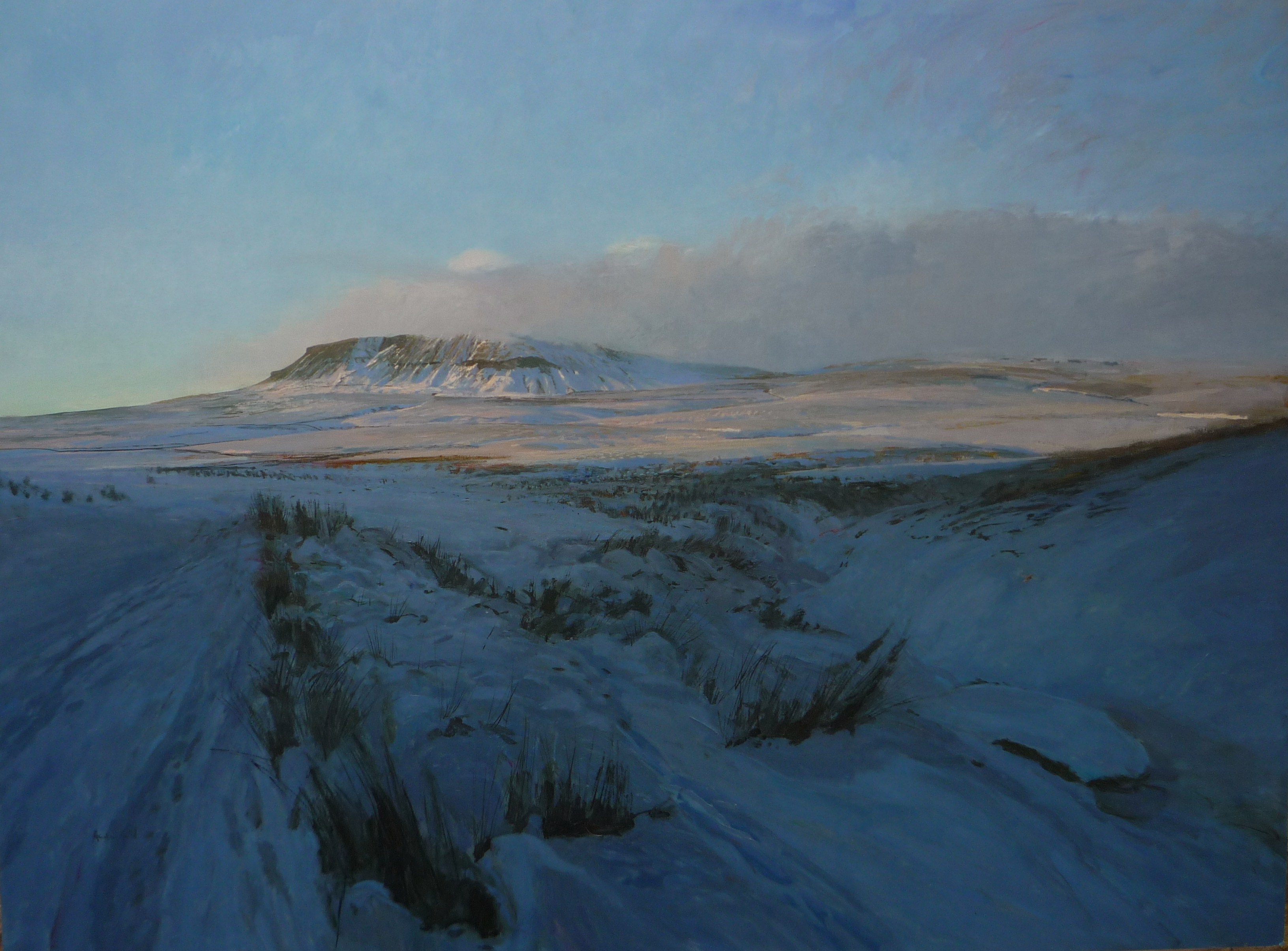 Pen Y Ghent, last light, winter  2011