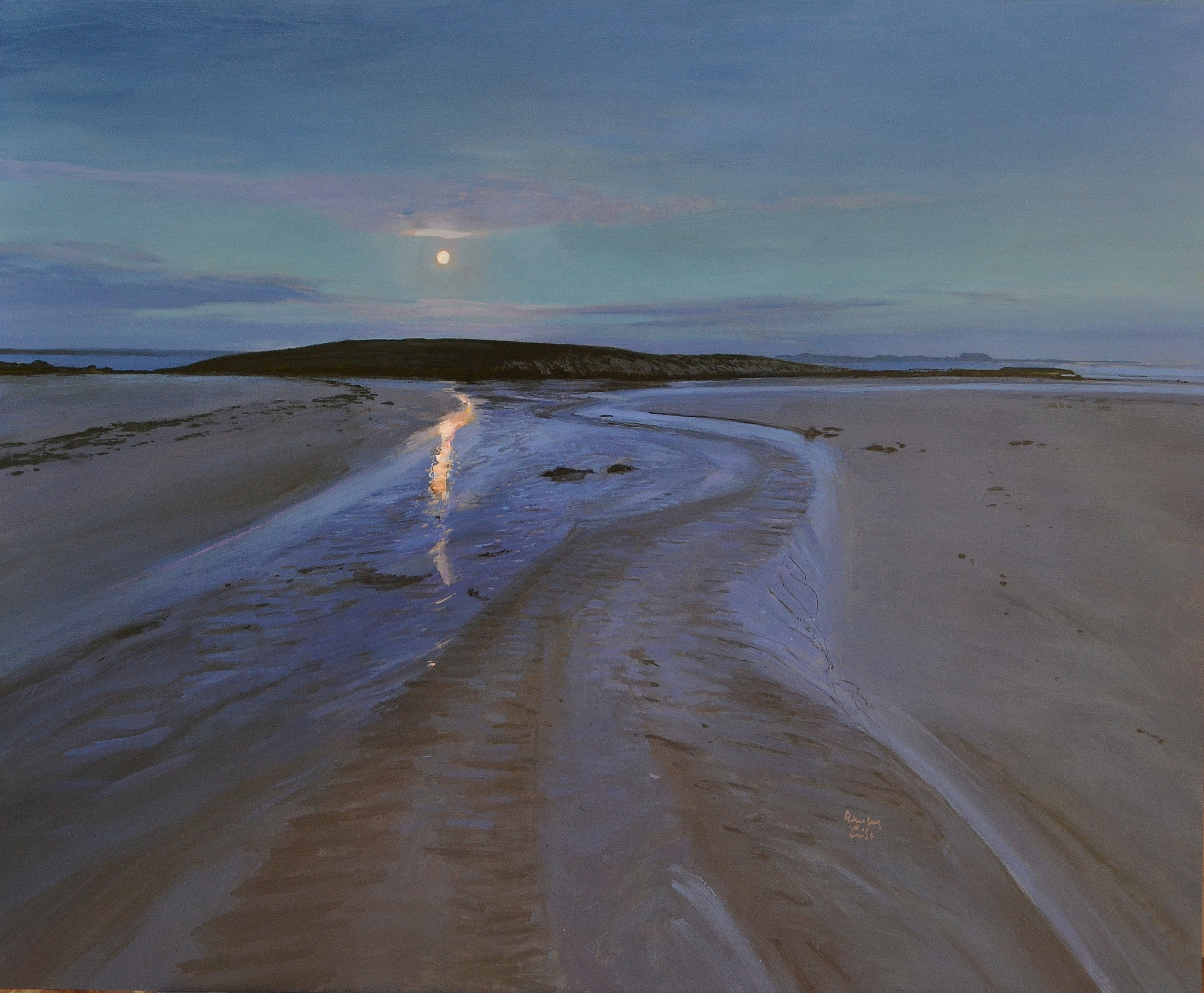 Moonlight, Iona beach 2010