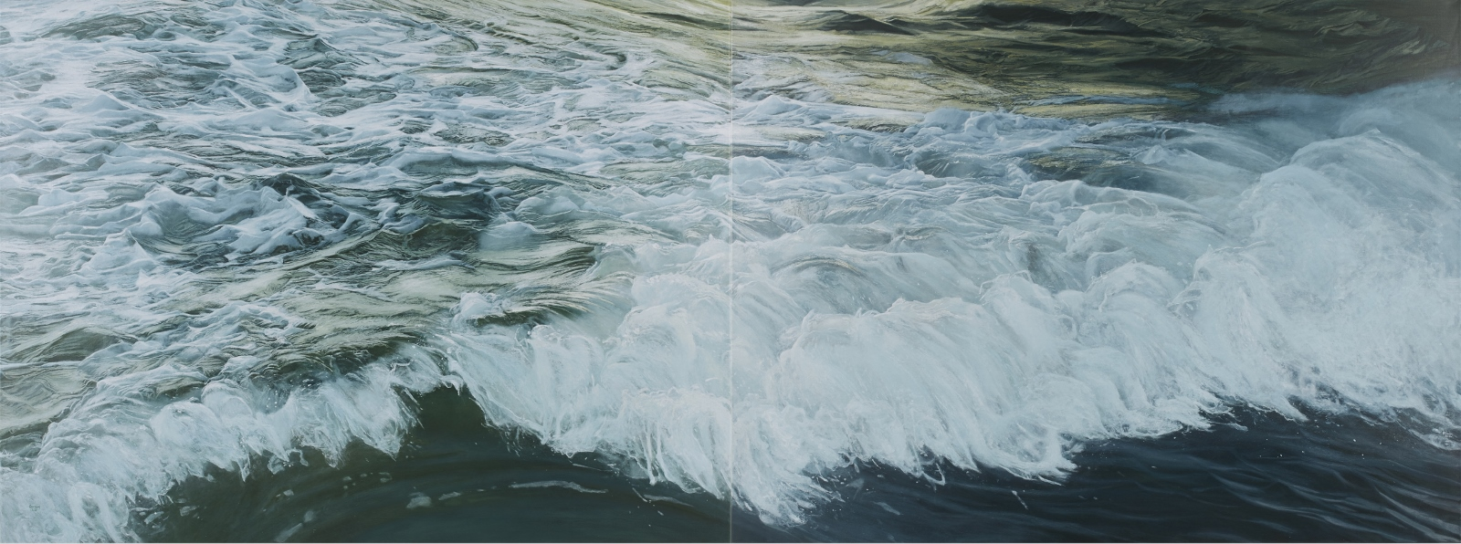 morning wave  (diptych)