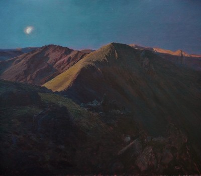 Full Moon, Scoat Fell and Red Pike from Pillar
